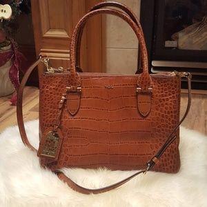 Lauren Ralph Lauren Leather Satchel